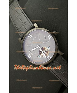 Cartier Calibre Tourbilon Reloj Japonés con Esfera Gris