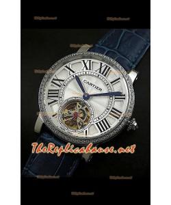 Cartier Calibre turbillón japonés malla azul