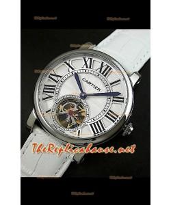 Cartier Calibre turbillón japonés malla blanca