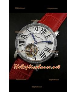 Cartier Calibre turbillón japonés malla roja