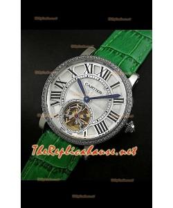 Cartier Calibre turbillón japonés malla verde