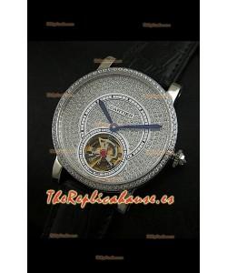 Cartier Calibre turbillón japonés con esfera de diamante