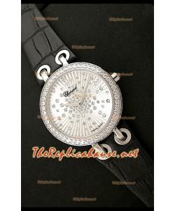 Chopard Xtraveganza Reloj para Señoras con Diamantes incrustados en carcasa y Correa Negra