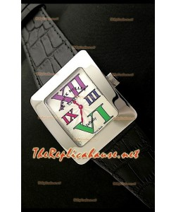 Franck Muller enfenity Réplica Reloj Señoras en Números romanos de Colores