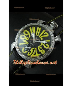 Reloj japonés GaGa Milano Manuale con esfera carbón oscuro