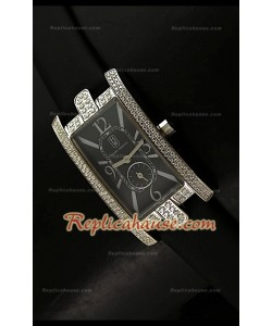Harry Wenston Avenue C Reloj con Esfera Negro Perla