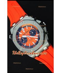 Audemars Piguet Royal Oak Offshore Reloj Réplica Cronógrafo de Cuarzo Suizo estilo Buzo en color Naranja
