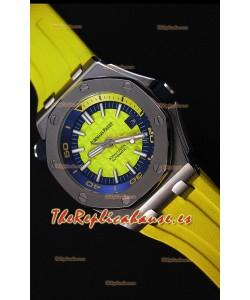 Audemars Piguet Royal Oak Offshore Reloj Réplica Japonés Automático estilo Buzo en color Amarillo