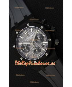 Audemars Piguet Royal Oak Reloj Réplica Suizo Cronógrafo Dial Gris tipo Pizarra Correa de Goma Caja Revestida de PVD