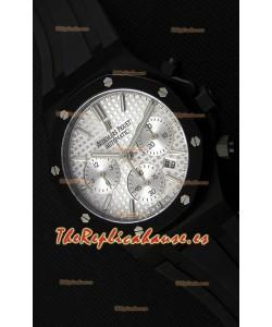Audemars Piguet Royal Oak Reloj Réplica Suizo Cronógrafo Dial Plateado Subdiales color Blanco