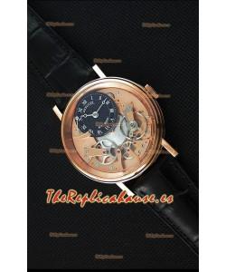 Breguet Tradition 7057BR/R9/9W6 Reloj Réplica Suizo en Oro Rosado Tourbillon Dual