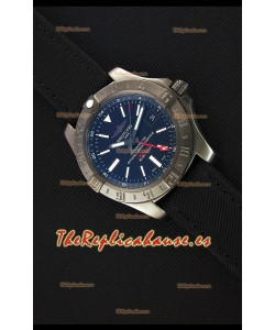 Breitling Avenger II BlackSteel GMT Reloj Réplica Suizo Correa de Nylon Reloj Réplica a Espejo 1:1