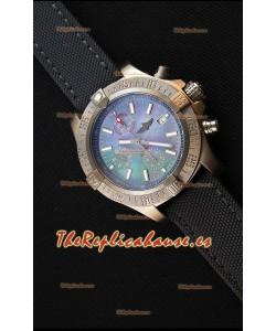 Breitling Avenger Reloj Réplica Suizo Caja de Titanio con Dial MOP Reloj Réplica a Espejo 1:1