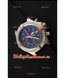 Breitling Avenger Reloj Réplica Suizo Caja de titanio , Dial Negro, Reloj Réplica a Espejo 1: 1