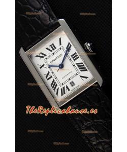 Cartier Tank Solo Reloj Suizo Automático con Correa de Acero 31MM Ancho