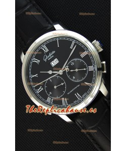 Glashuette Dual Sub Dial Reloj Réplica Japonés en Dial Negro