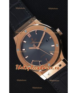 Hublot Classic Fusion Racing Reloj Réplica Suizo en Oro King color Gris - Réplica a Espejo 1:1
