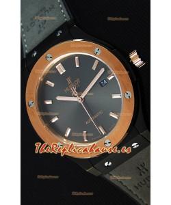 Hublot Classic Fusion Ceramic King Gold Reloj Réplica Suizo Dial color Gris - Reloj Réplica a Espejo 1:1