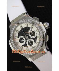 Hublot Big Bang Reloj Réplica Suizo con Bisel de Diamantes en caja de Acero