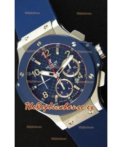 Hublot Big Bang Reloj Réplica Suizo Dial en Carbon Color Azul  - Réplica a Espejo 1:1