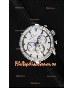 IWC Schaffhausen Reloj Réplica Japonés Movimiento de Cuarzo Dial en Blanco