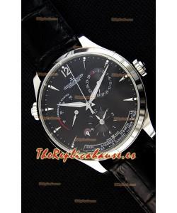 Jaeger LeCoultre Master Geographic Reloj Réplica Suizo Caja de Acero Indicador de Reserva de Energía