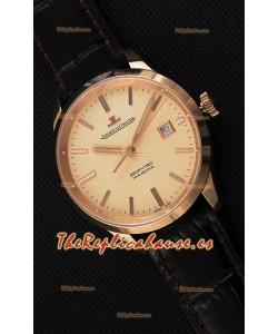 Jaeger LeCoultre Geophysic True Second Reloj Réplica Suizo en Oro Rosado Dial en Oro