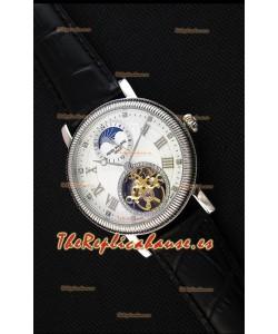 Patek Philippe Japanese MoonPhase Tourbillon Reloj Réplica Dial Blanco