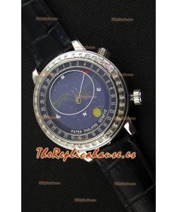 Patek Philippe Grand Complication 6102P Celestial Moon Age Reloj Réplica Suizo con Dial en Azul