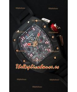 Richard Mille RM011 Romain Grosjean Edición Lotus F1 Caja de Carbón Forjado Reloj Suizo