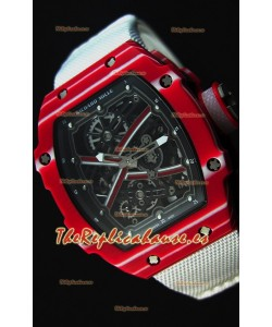 Richard Mille 67-02 Mutaz Barshim Reloj Réplica Suizo de Carbón Forjado