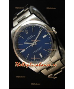 Rolex Oyster Perpetual Cal.3132 Movimiento Suizo Dial Azul Correa tipo Ostra - Último Reloj de Acero 904L