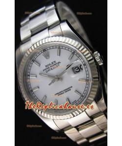 Rolex Datejust 36MM Cal.3135 Movement Reloj Réplica Suizo Dial Blanco Oyster Strap - Ultimate 904L Steel Watch
