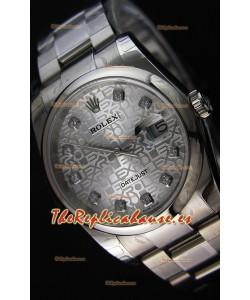 Rolex Datejust 36MM Cal.3135 Movement Reloj Réplica Suizo en Acero color Blanco, Dial en Acero