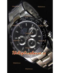 Rolex Cosmograph Daytona 116500LN Movimiento Original Cal.4130 Dial Negro - Último Reloj de Acero 904L
