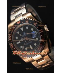 Rolex GMT Masters II 126715CHNR Reloj Réplica Suizo a Espejo 1:1 Oro Everose