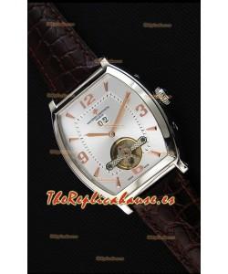 Vacheron Constantin Malte Reloj Réplica Japonés Tourbillon Dial en Acero color Blanco