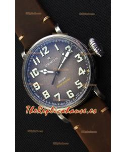 Zenith Pilot Type 20 Extra Especial Dial Gris Reloj Réplica a Espejo 1:1 45MM