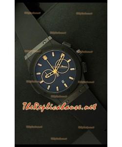 Hublot Vendome Cronógrafo PVD Reloj Japonés - Marcas Amarillas