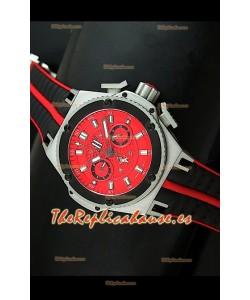 Hublot King Power Ferrari Edición Réplica Suiza-Malla negra
