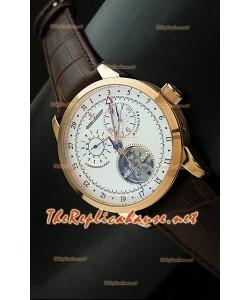 Reloj cronómetro Jaeger LeCoultre de oro rosa