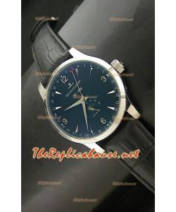 Reloj japonés Jaeger LeCoultre Moonphase con esfera negra