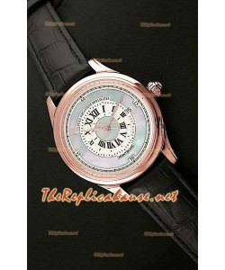 Mont Blanc Mechanique Horlogere Reloj Suizo en Oro Rosa Esfera Perla
