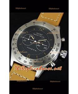 Reloj japonés Panerai Mare Nostrum en caja de acero