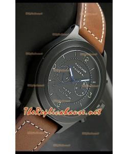 Reloj japonés Panerai Mare Nostrum en estuche de PVD