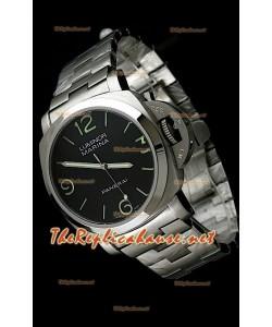 Panerai Lumenor Marena 44MM Reloj con Correa de Acero