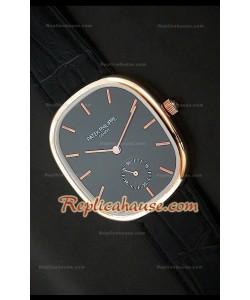 Patek Philippe Mens Golden Elipse Reloj Japonés en Oro