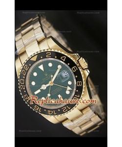 Rolex Replica GMT Masters Reloj con Bisel de Cerámica con Esfera Verde
