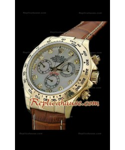 Rolex Daytona Reproducción Reloj Cosmógrafo Suizo con Esfera Perla