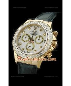 Rolex Daytona Reproducción Reloj Cosmógrafo Suizo con Esfera Blanca
